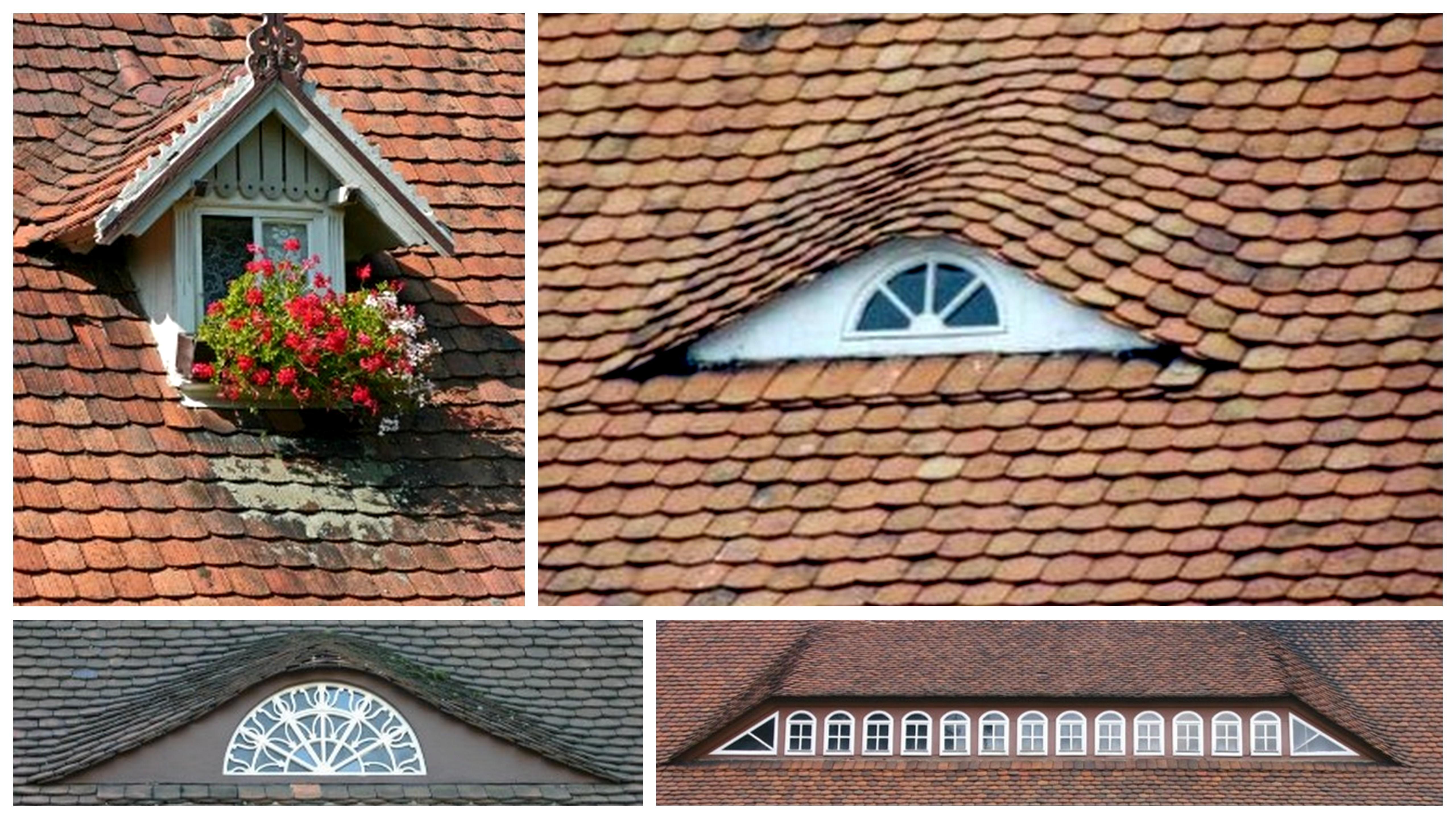 Stehendes Fenster, kleines (r.o.) und großes (l.u.) Ochsenauge, Hecht